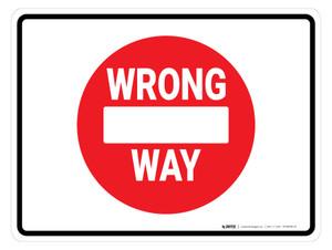 Wrong Way Icon - Floor Marking Sign