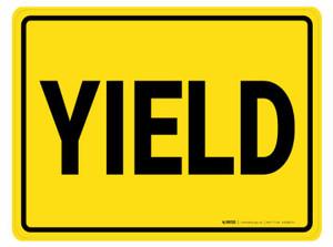 Yield - Floor Marking Sign