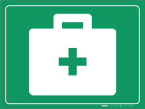 First Aid Kit - Floor Marking Sign