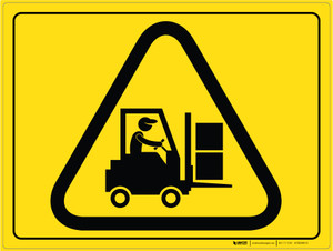 Forklift Traffic - Floor Marking Sign