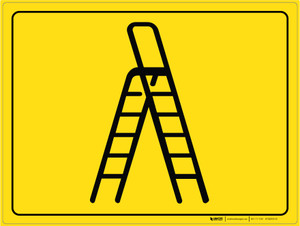 Ladder Parking - Floor Marking Sign