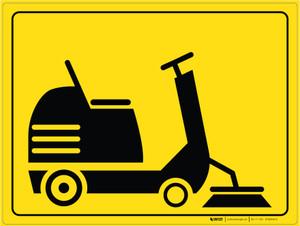 Sweeper Parking - Floor Marking Sign