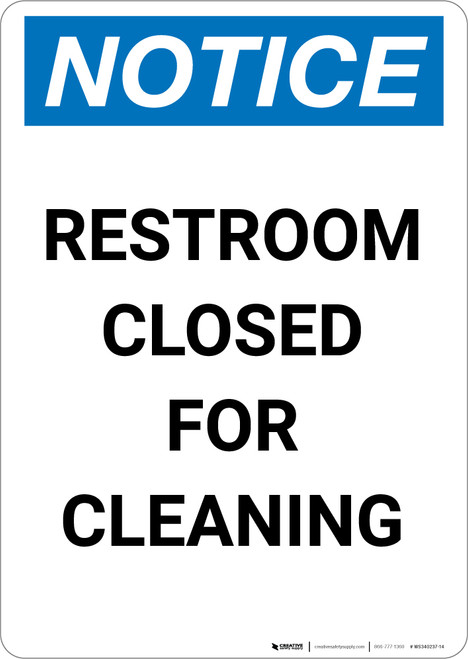 Notice: This Product Is Asbestos Free - Portrait Wall Sign