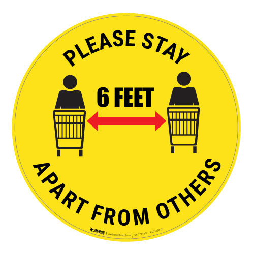 Please Stay 6 Feet Apart From Others - Floor Sign