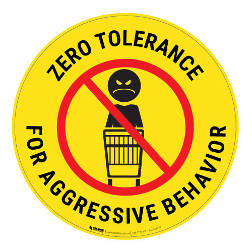 Zero Tolerance - Yellow - Floor Sign