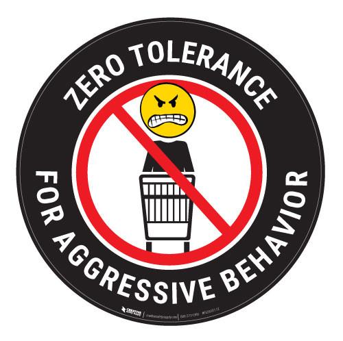 Zero Tolerance - Black - Floor Sign