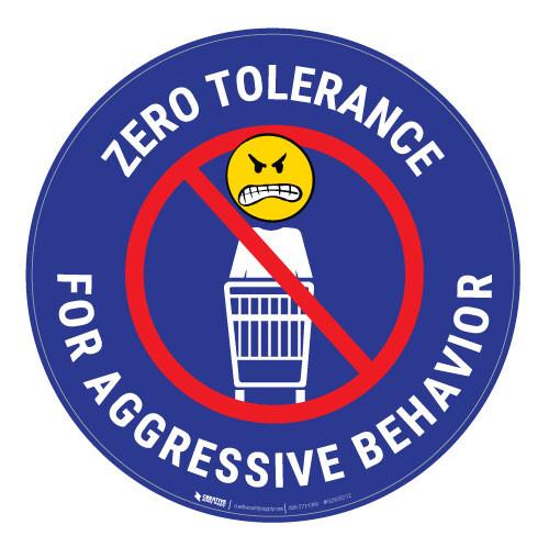 Zero Tolerance - Blue - Floor Sign