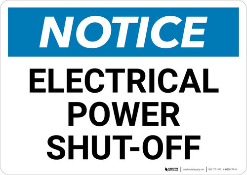 Notice: Electrical Power Shut-Off Landscape