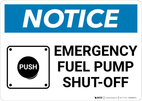 Notice: Emergency Fuel Pump Shut-Off Landscape