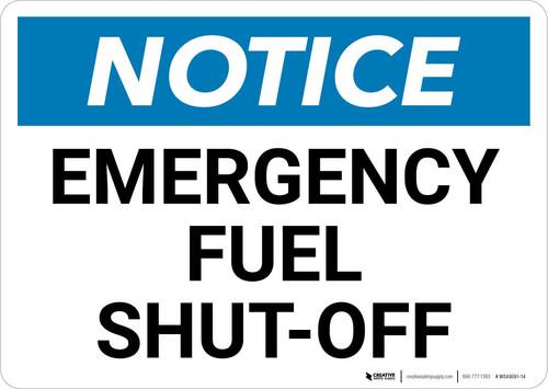 Notice: Emergency Fuel Shut-Off Landscape