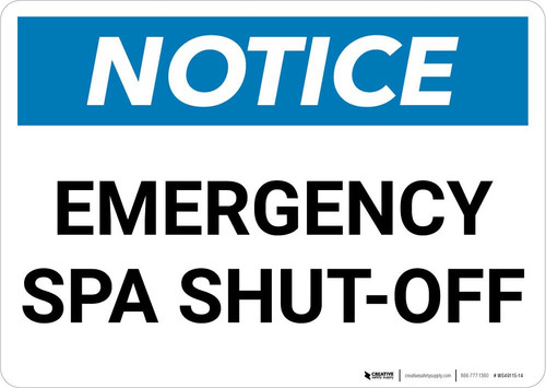 Notice: Emergency Spa Shut-Off Landscape