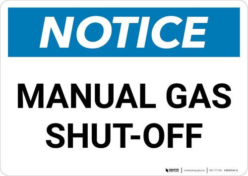 Notice: Manual Gas Shut-Off Landscape