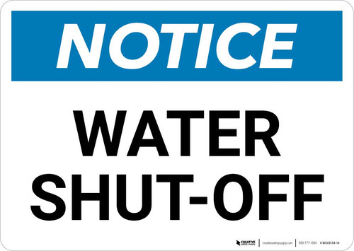 Notice: Water Shut-Off Landscape