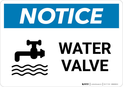 Notice: Water Valve with Icon Landscape