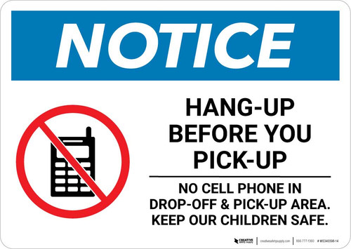 Notice: Hang-Up Before You Pick-up Landscape