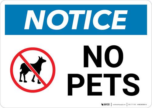 Notice: No Pets Landscape
