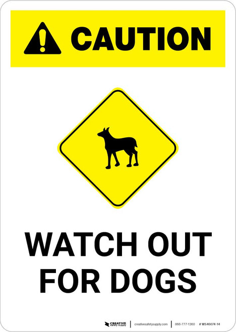 Caution: Watch Out for Dogs with Icon Portrait