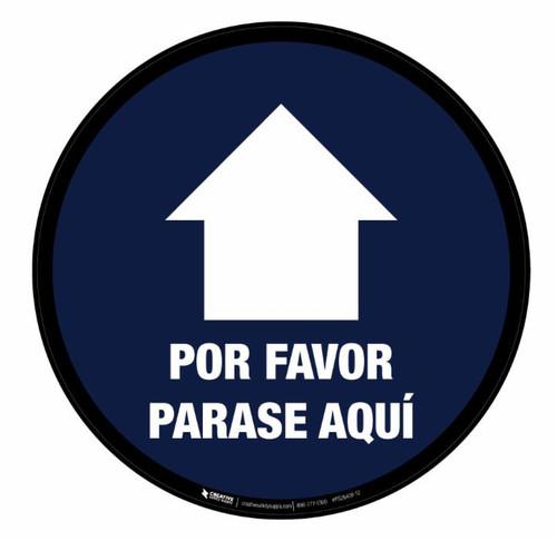 Please Wait Here Until Called Forward Spanish - Floor Sign