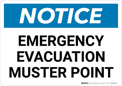 Notice: Emergency Evacuation Muster Point Landscape
