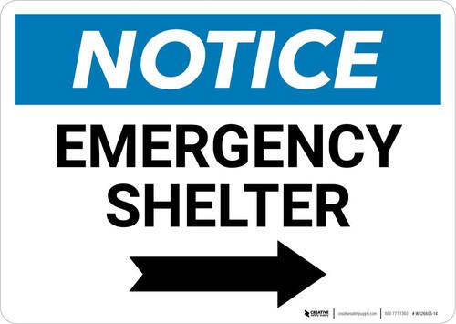Notice: Emergency Shelter Right Arrow Landscape