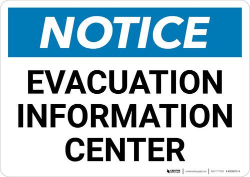 Notice: Evacuation Information Center Landscape