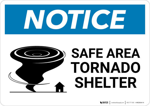 Notice: Safe Area Tornado Shelter Landscape