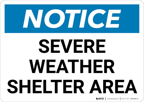 Notice: Severe Weather Shelter Area Landscape