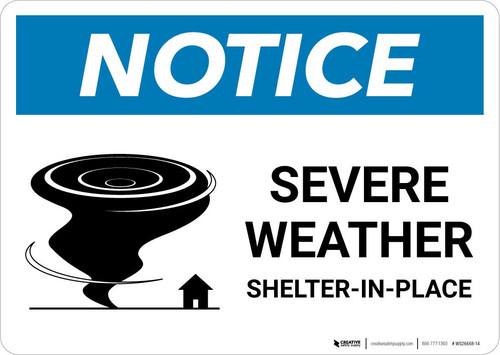 Notice: Severe Weather Shelter-In-Place Landscape