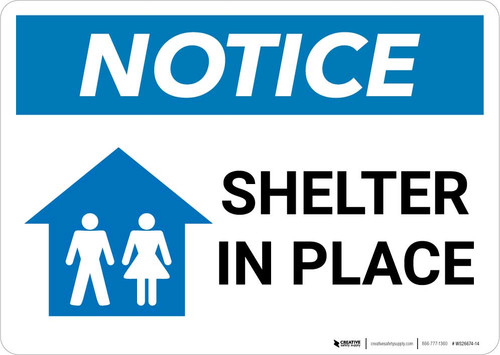 Notice: Shelter In Place Landscape