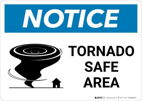 Notice: Tornado Shelter Down Arrow with Icon Landscape