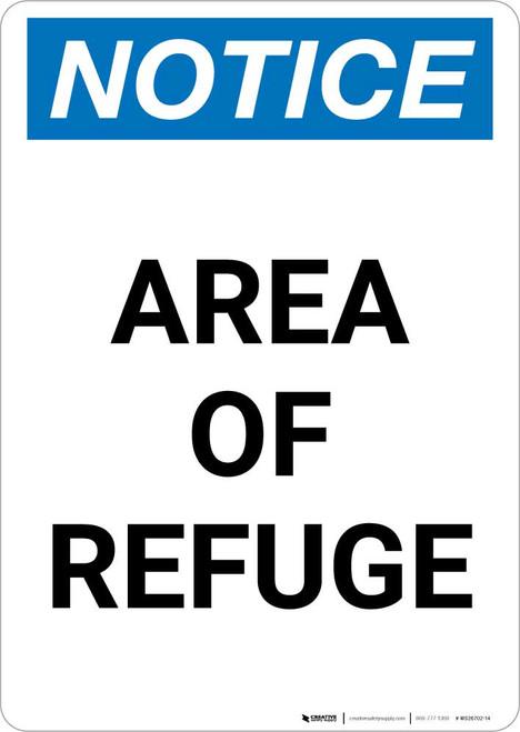 Notice: Area of Refuge Portrait