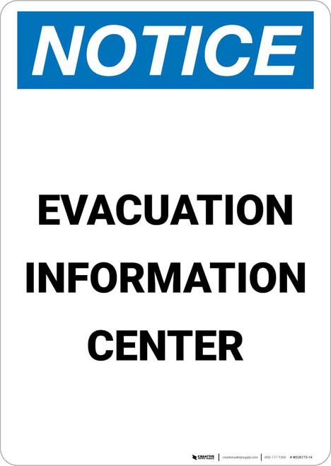 Notice: Evacuation Information Center Portrait