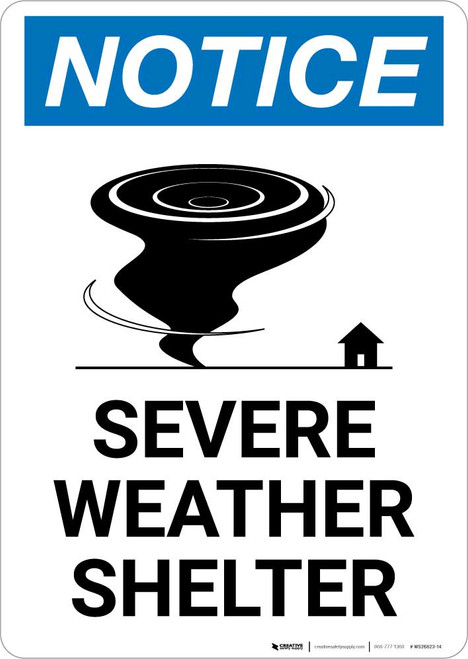 Notice: Severe Weather Shelter Portrait