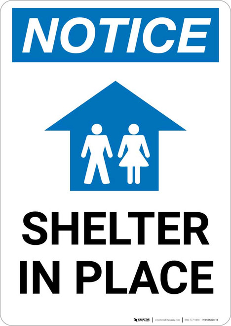 Notice: Shelter In Place Portrait