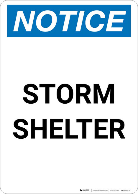 Notice: Storm Shelter Portrait