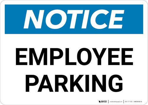 Notice: Employee Parking Landscape