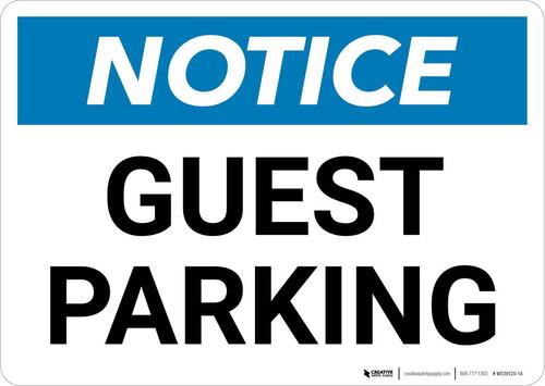 Notice: Guest Parking Landscape