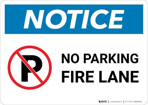 Notice: No Parking - Fire Lane Landscape