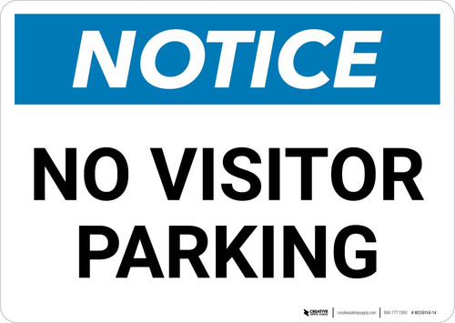 Notice: No Visitor Parking with Icon Landscape