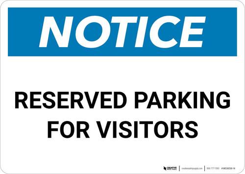 Notice: Reserved Parking for Visitors Landscape