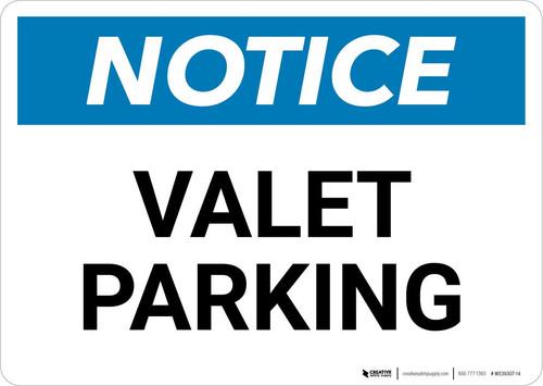 Notice: Valet Parking Landscape