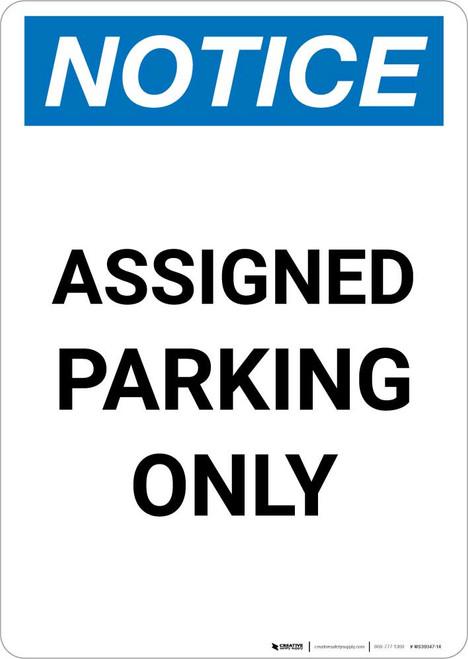 Notice: Assigned Parking Only Portrait