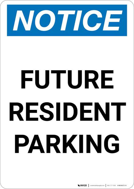 Notice: Future Resident Parking Portrait