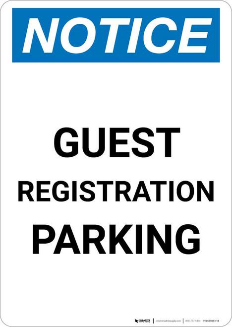 Notice: Guest Registration Parking Portrait
