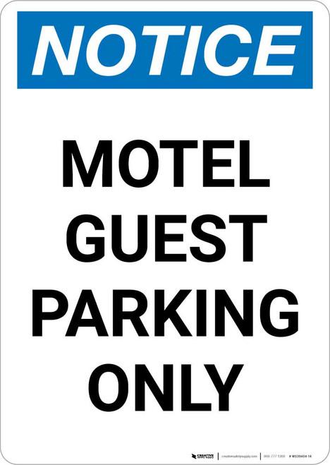 Notice: Motel Guest Parking Only Portrait