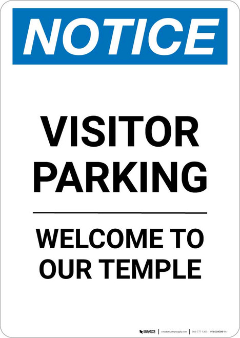 Notice: Visitor Parking - Welcome To Our Temple Portrait