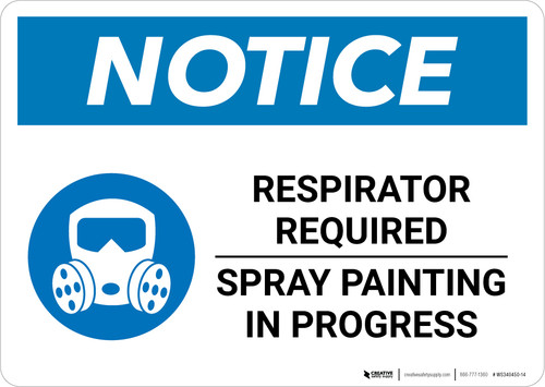 Notice: Respirator Required - Spray Painting in Progress with Icon Landscape