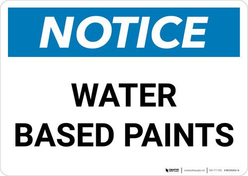 Notice: Water Based Paints Landscape