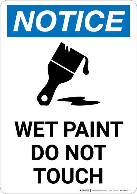 Notice: Wet Paint Do Not Touch with Icon Portrait