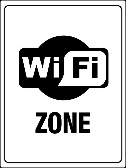 Free Wi-Fi Zone Sign